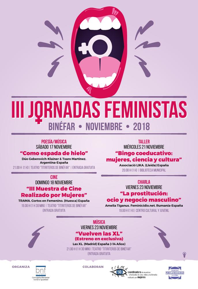 Las III Jornadas Feministas de Binéfar se inauguran con poesía y música