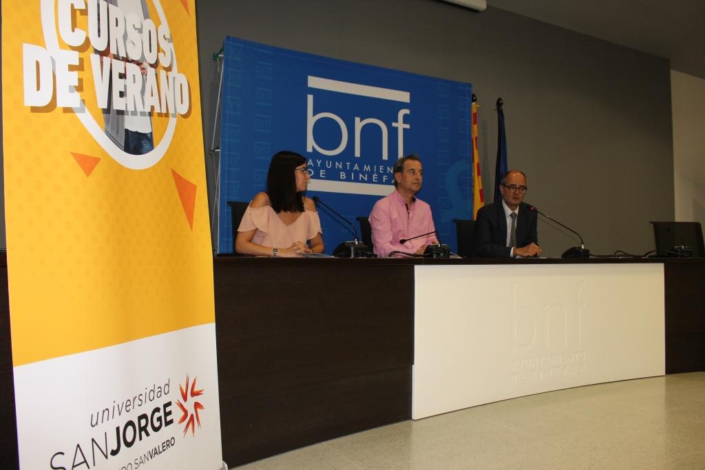 Binéfar recibe los cursos de verano de la Universidad San Jorge