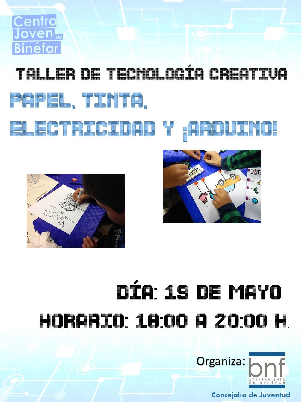Taller de Papel, Tinta, Electricidad y Arduino